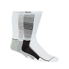 Calvin Klein - Pack of three white athletic crew socks