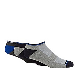 Debenhams Basics - Pack of three navy, grey and blue pique performance trainer socks