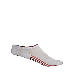 Debenhams Basics - Pack of three white striped sole trainer socks