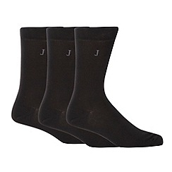 J by Jasper Conran - Designer pack of three black socks