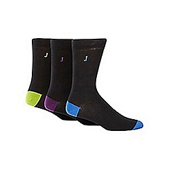 J by Jasper Conran - Designer pack of three highlight socks