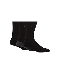 J by Jasper Conran - Designer pack of three black cushioned sole socks