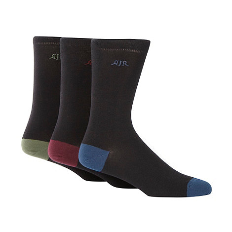 RJR.John Rocha - Designer pack of three coloured heel and toe socks