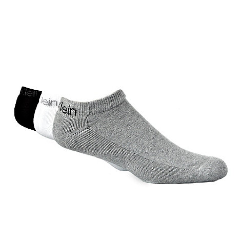 Calvin Klein - Pack of three multicoloured trainer socks