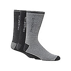 Ben Sherman - Pack of three grey socks