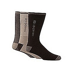 BEN SHERMAN - Pack of three beige socks