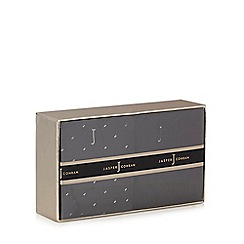 J by Jasper Conran - Pack of two black and dark grey socks in a gift box