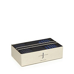 J by Jasper Conran - Pack of three black and blue striped socks in a gift box