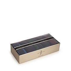 J by Jasper Conran - Pack of five assorted striped socks in a gift box