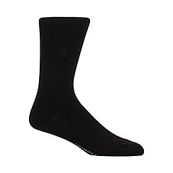 J by Jasper Conran - Pack of five black and dark grey striped socks in a gift box
