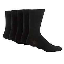 Freshen Up Your Feet - Big and Tall Black pack of five socks