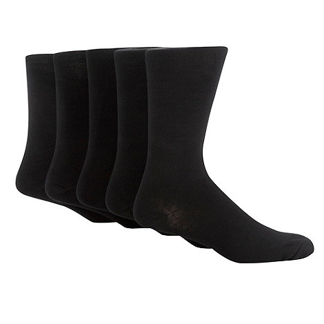 Freshen Up Your Feet - Black pack of five socks