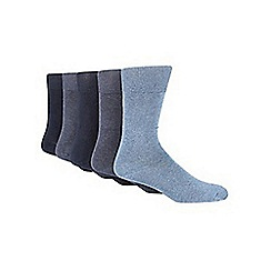 Freshen Up Your Feet - Pack of five blue marl socks
