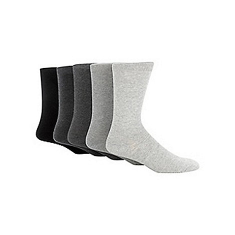 Freshen Up Your Feet - Grey pack of five marl socks