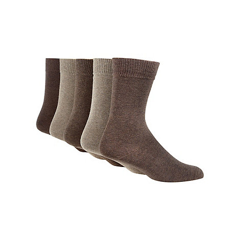 Freshen Up Your Feet - Pack of five brown socks
