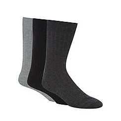 Maine New England - Pack of three assorted short lambswool blend socks