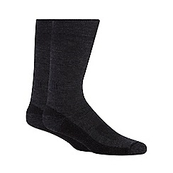 Maine New England - Pack of two grey Merino wool blend walking socks