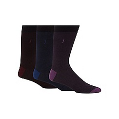J by Jasper Conran - Pack of three assorted fine stripe socks