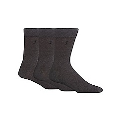 J by Jasper Conran - Pack of three grey luxury cotton rich socks