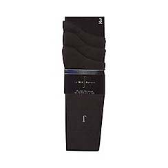 J by Jasper Conran - Pack of three black luxury cotton rich socks