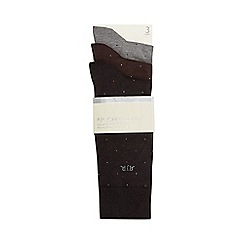 RJR.John Rocha - Pack of three assorted pin dot socks