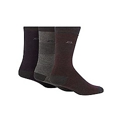 RJR.John Rocha - Pack of three assorted socks
