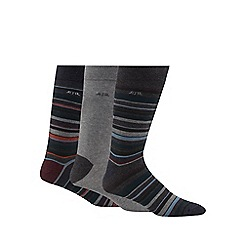 RJR.John Rocha - Pack of three green striped socks