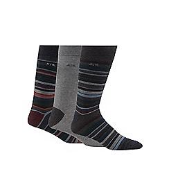 RJR.John Rocha - Pack of three green striped socks