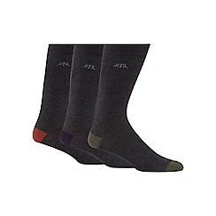 RJR.John Rocha - Pack of three grey cotton socks
