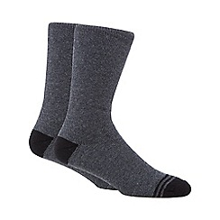 Maine New England - Pack of two grey thermal short socks