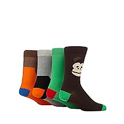 Red Herring - Pack of four assorted animal socks