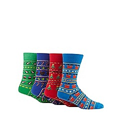 Red Herring - Pack of four assorted Christmas themed socks
