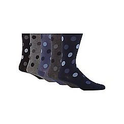 Freshen Up Your Feet - Pack of five assorted spotted socks