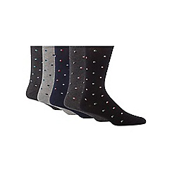 Freshen Up Your Feet - Pack of five assorted mini square printed socks