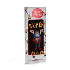 Debenhams - Black 'Super dad' socks