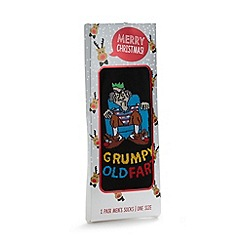 Debenhams - Black 'Grumpy old fart' socks