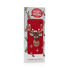 Debenhams - Red reindeer socks