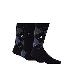Pringle - Pack of three navy socks