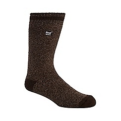 Heat Holders - Brown 2.3 tog twisted yarn socks