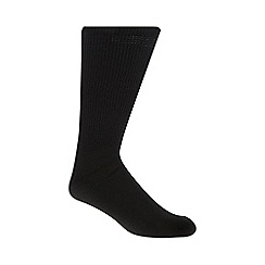 H.J.Hall - Black wool diabetic socks