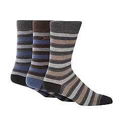 RJR.John Rocha - Designer pack of three multi stripe socks