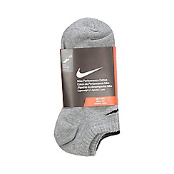 Nike - Pack of three grey sport socks