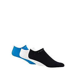 Calvin Klein - Pack of three assorted 'Coolmax' trainer socks