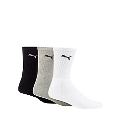 Puma - Pack of three assorted logo embroidered trainer socks