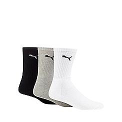 Puma - Pack of three assorted logo embroidered trainer socks