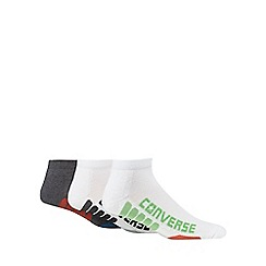 Converse - Pack of three assorted 'All Star' logo sports socks
