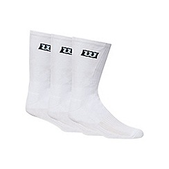 Wilson - Pack of three white crew socks