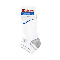 Wilson - Pack of three white cushioned ankle socks