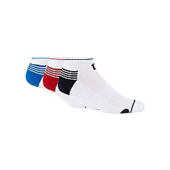 Wilson - Pack of three white low cut socks