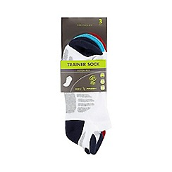 Debenhams - Pack of three white trainer socks